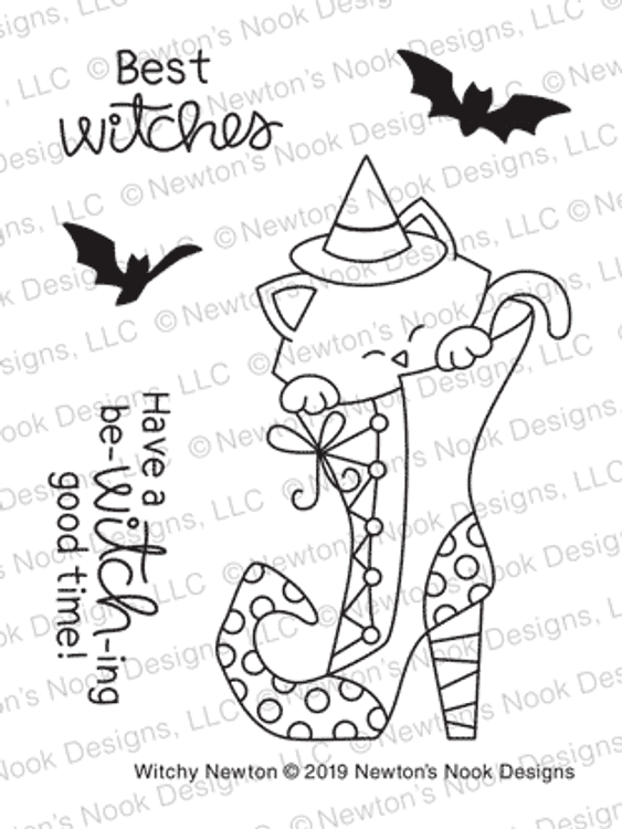 Witchy Newton Stamp Set ©2019 Newton's Nook Designs