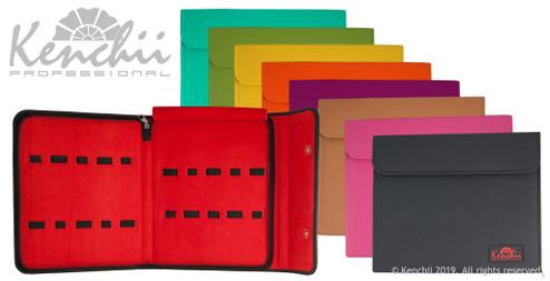 KEL10 ten shear case all colors (green, yellow, orange, purple, tan, pink, black, and turquoise).