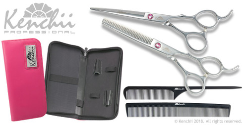 Kenchii Amoré set. Scissors for hair cutting