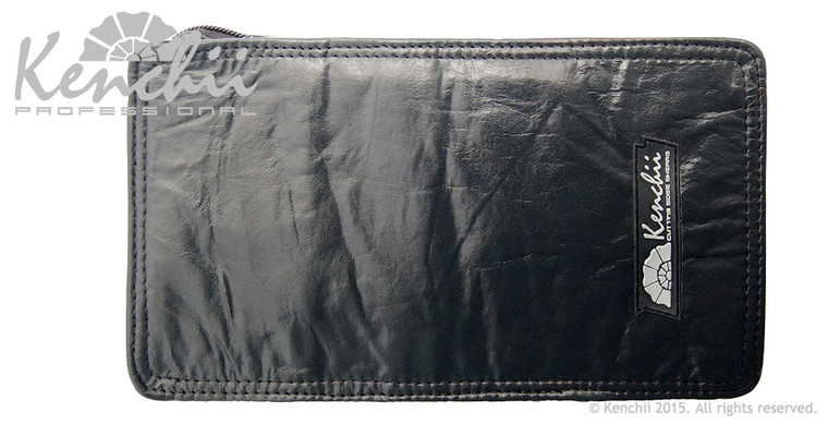 Genuine Leather 8-shear Zip Case, Small