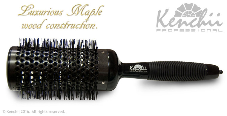 Extra Large Thermal Ceramic Brush with Ionic Anti-static Nylon Bristles