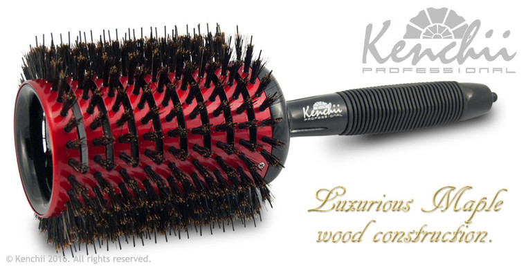 Extra Large Vented Ceramic Brush with Nylon and Boar Bristles