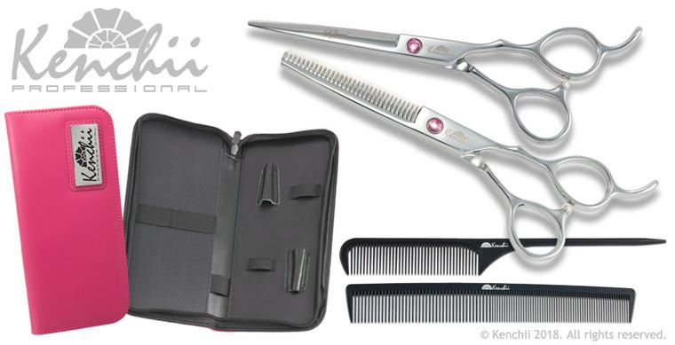 Kenchii Amoré set. Scissors for hair cutting