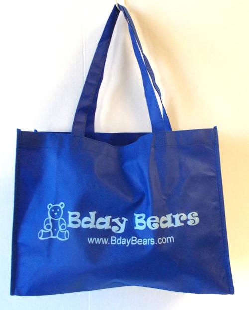 Blue Bday Bears shopping tote bag