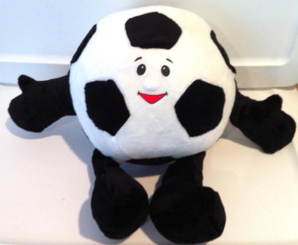 Wholesale Unstuffed Soccer Ball Gray Black Pillow