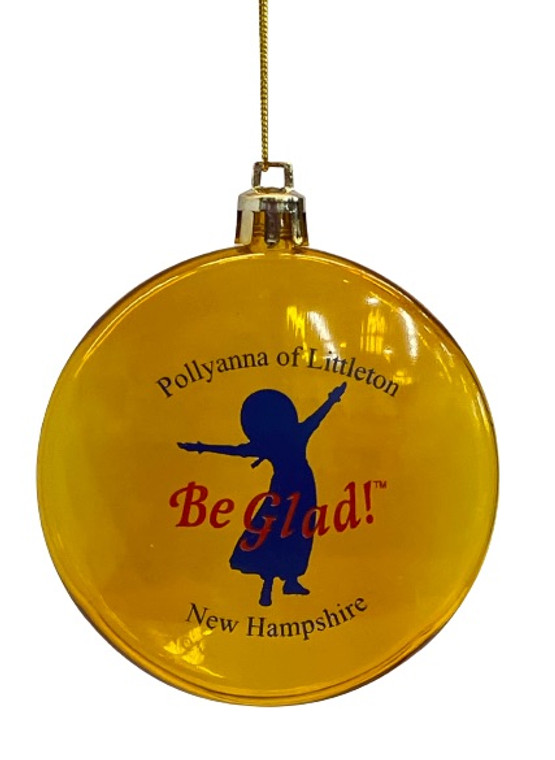 Pollyanna Ornament in Translucent Gold.