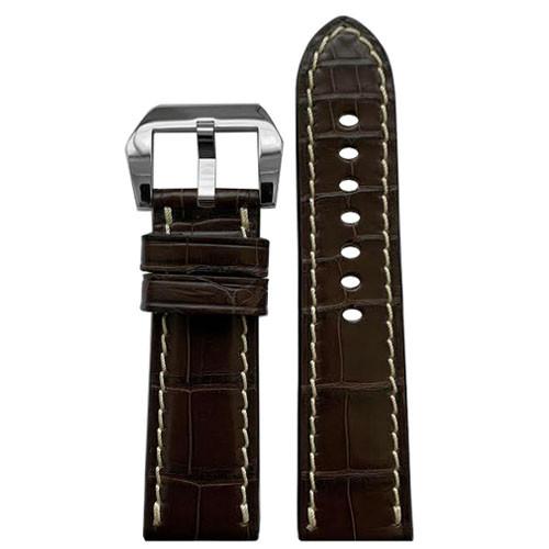 24mm Mocha RIOS1931 Modena | Genuine Alligator Watch Band for Panerai