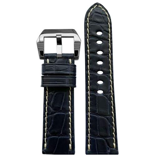 24mm Ocean Blue RIOS1931 Modena | Genuine Alligator Watch Band for Panerai