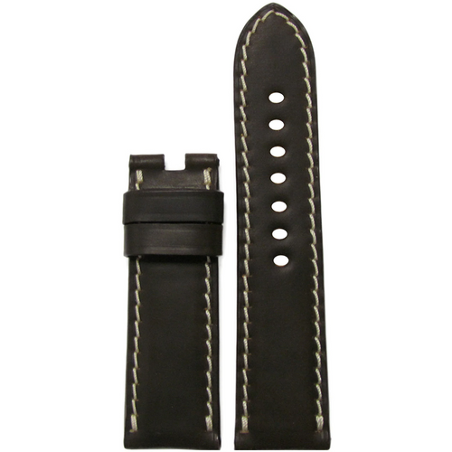 24mm Mocha Shell Cordovan Leather Watch Band for Panerai Deploy Buckle | Paneraibands.com