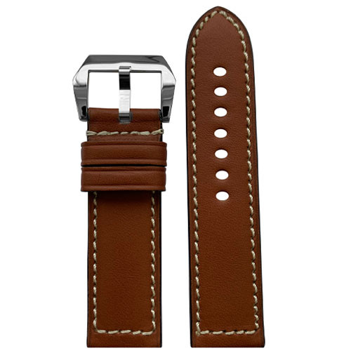22mm RIOS1931 Cognac Firenze | Russian Leather Watch Band for Panerai