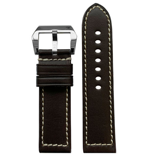 22mm RIOS1931 Mocha Firenze | Russian Leather Watch Band for Panerai