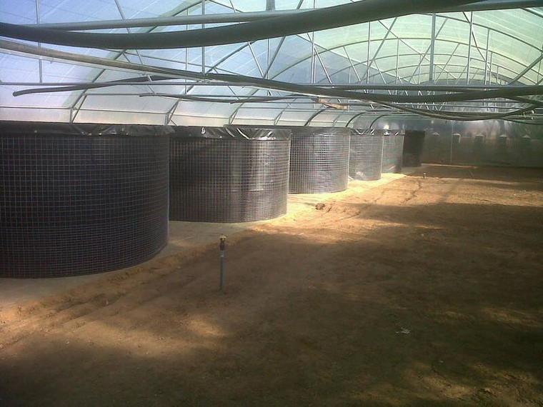 13800 Litre Welded Mesh Reinforced 800g PVC Liner Fish Tank