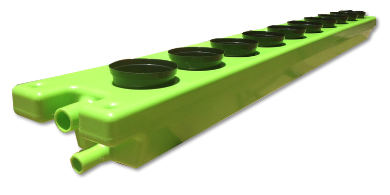 Floot NFT Hydroponics-Aquaponics Grow channel for 10 plants ( including 10 x netpots) - NOW IN STOCK