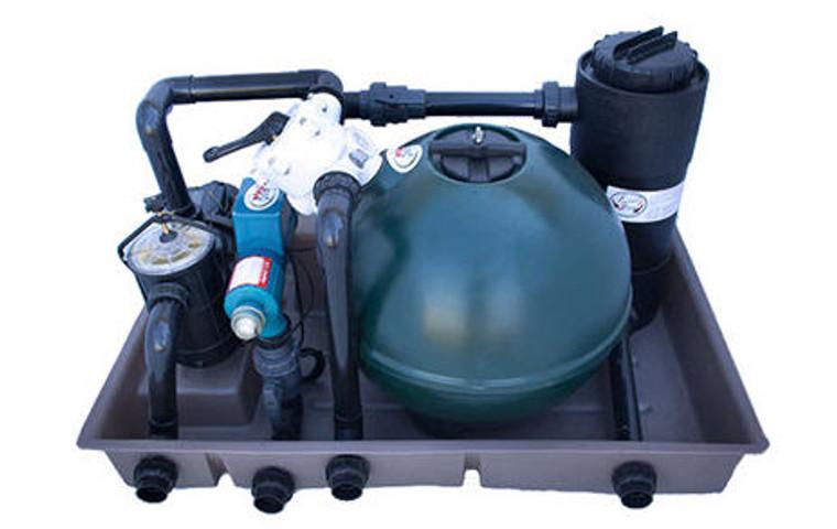 Combo Pond Box - 15w UV, 2 Bag Sandfilter, 25l Biofilter, 0.6kw Pump (12000l pond)