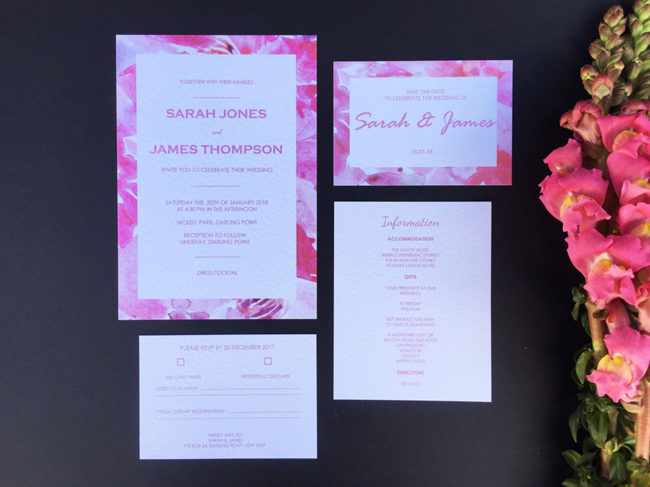 Floral Wedding Invitation Sample