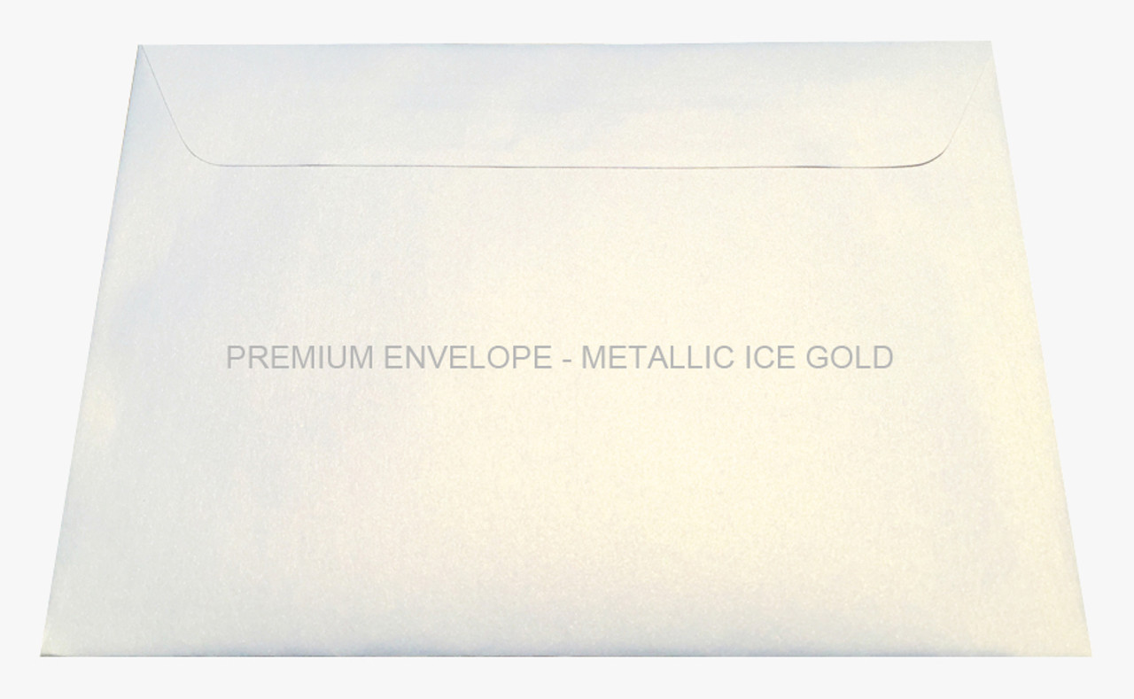 Premium Envelope - Metallic Ice Gold