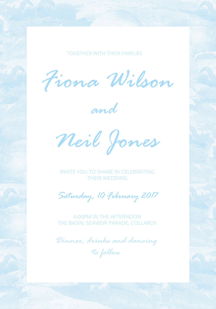Beach Wedding Invitation Sample