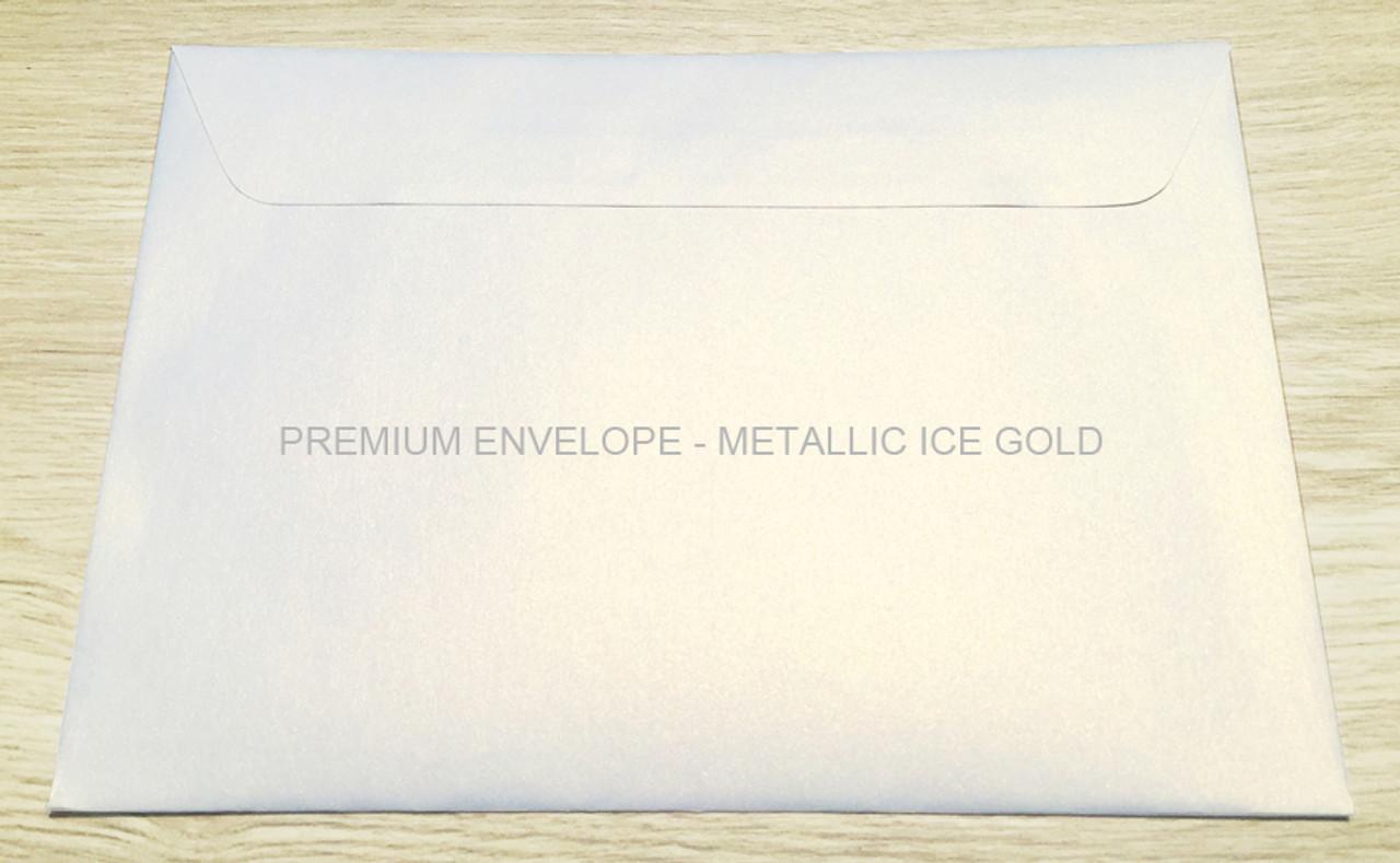Premium Envelope – Metallic Ice Gold