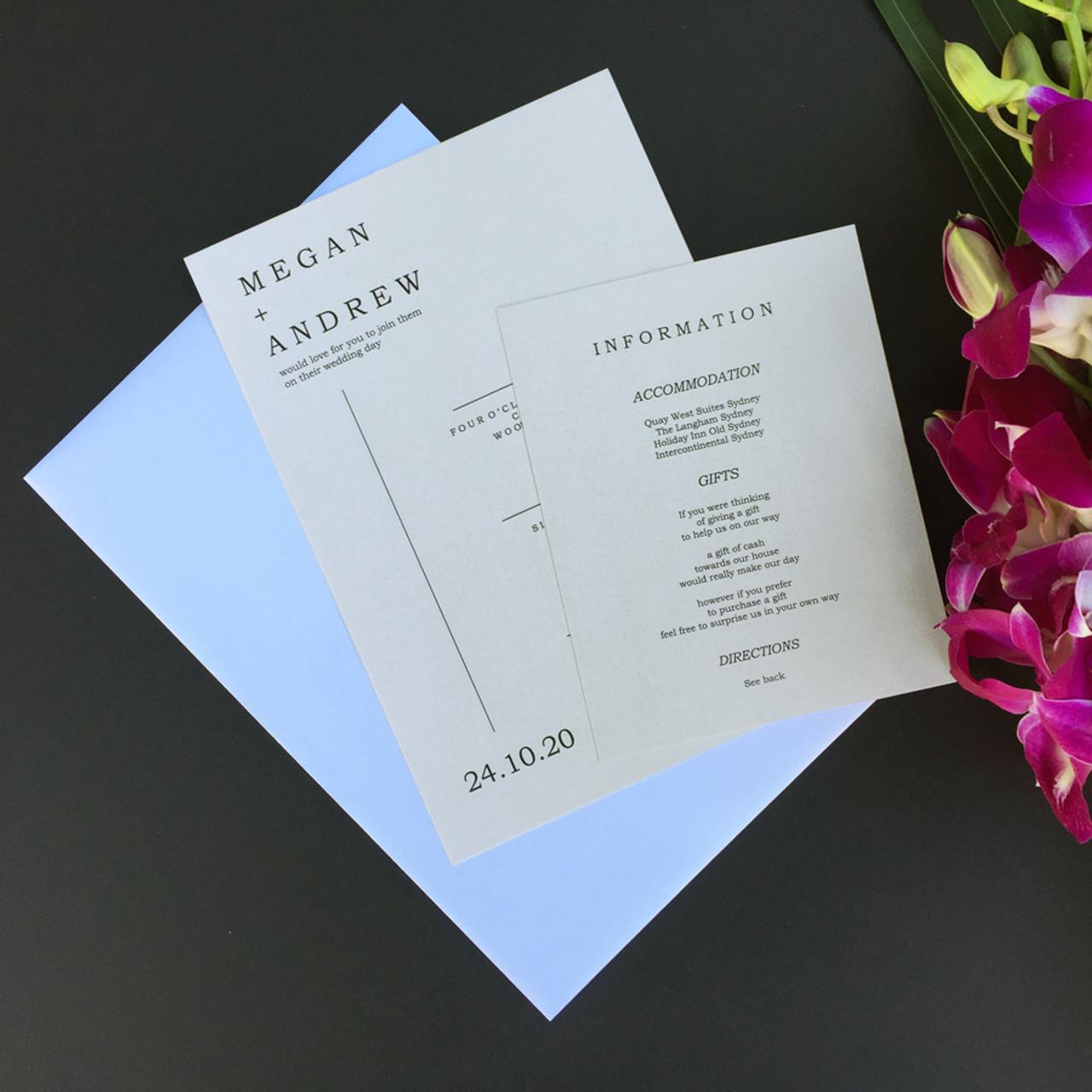 Love Map Wedding Invitation