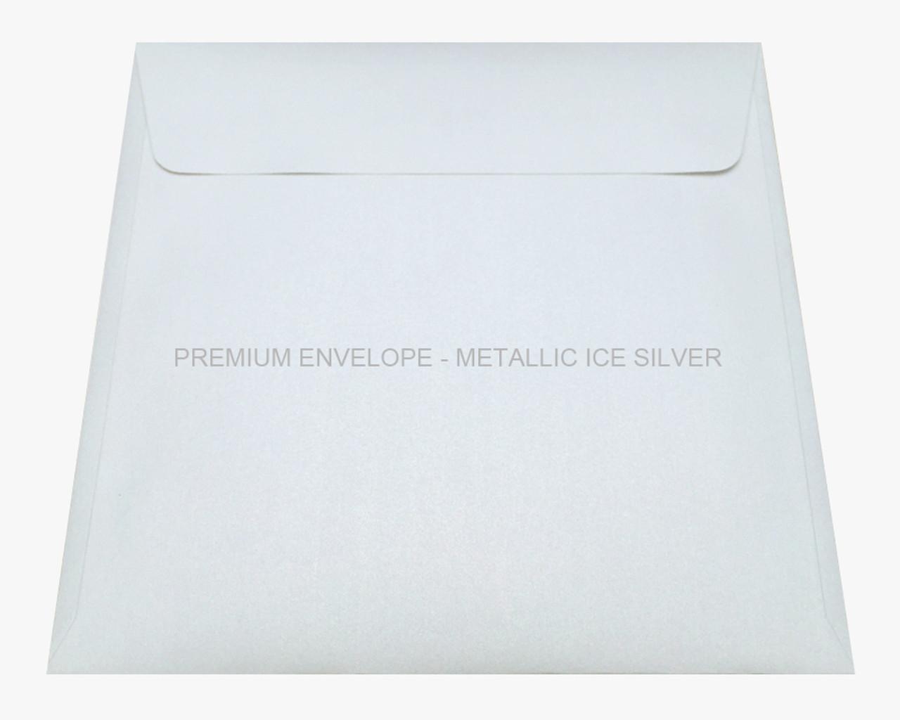 Premium Envelope - Metallic Ice Silver