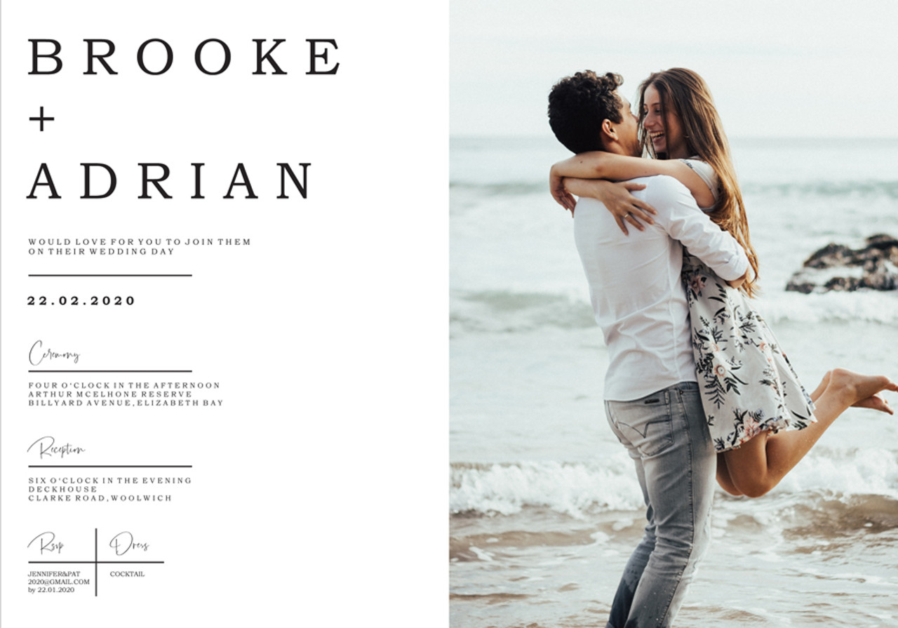 Your Photo Wedding Invitation #2