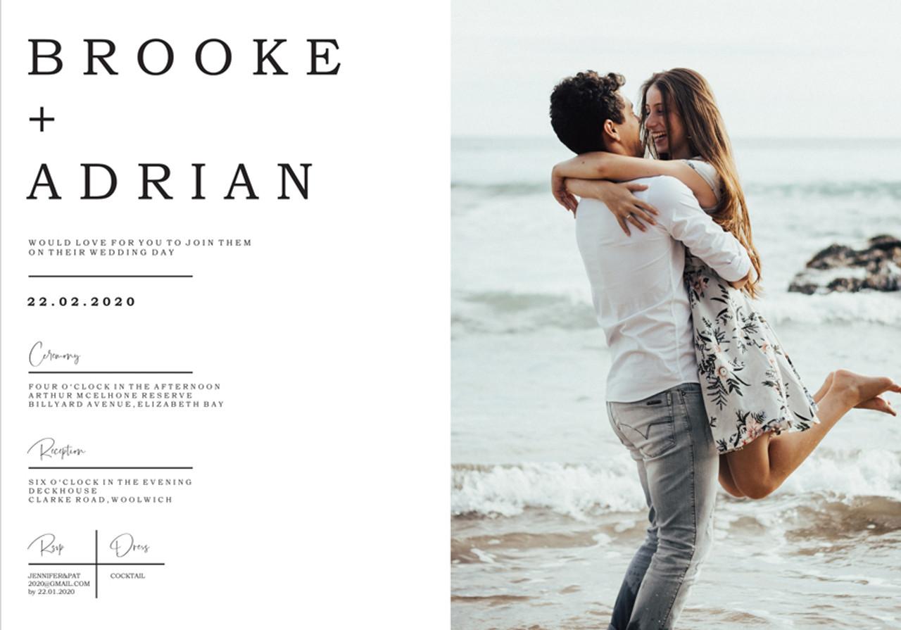 Your Photo Wedding Invitation #2 Sample