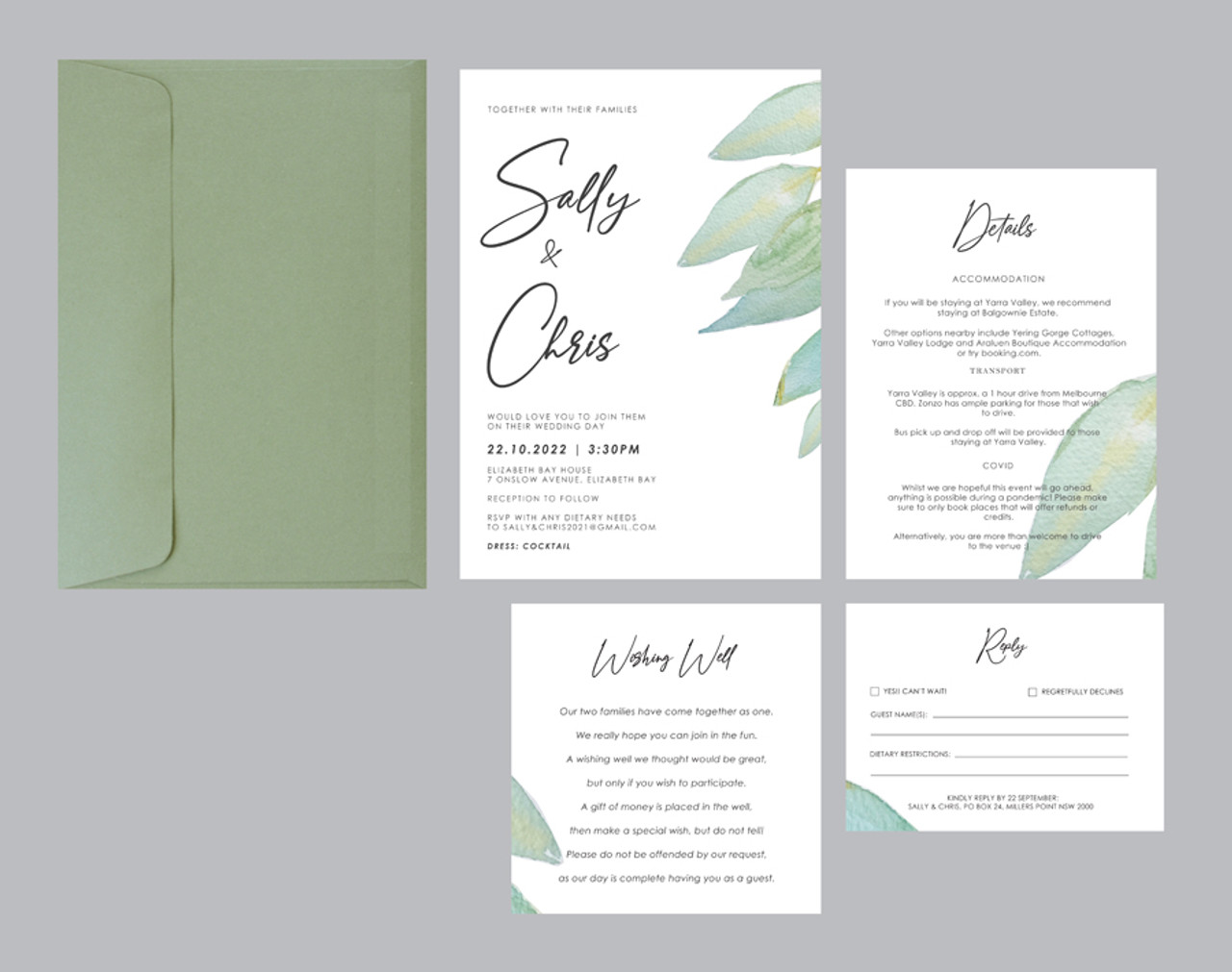 Wedding Invitation - Greenery #1