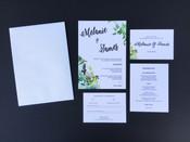 Bouquet Wedding Invitation Sample