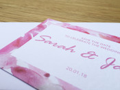 Save the Date - to match Floral wedding invitation