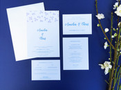 Floral Wedding Invitation - Harebell Flowers