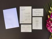Love Map Wedding Invitation Sample