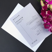 Love Map Wedding Invitation - Grey Remix Sample