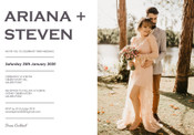 Your Photo Wedding Invitation #1 Sample