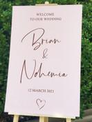 Wedding Welcome Sign + Love Heart