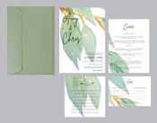 Wedding Invitation - Greenery #2