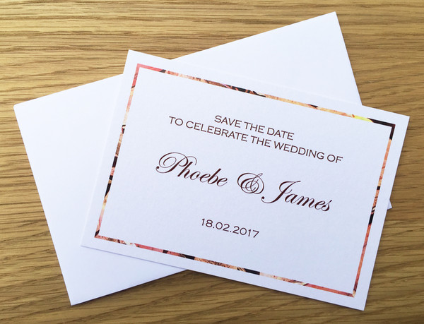 Save the Date - to match Gum Leaves wedding invitation