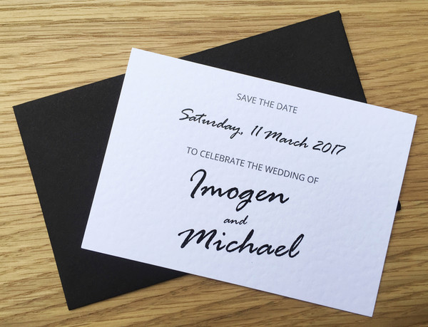 Save the Date - to match Bridal Arch wedding invitation