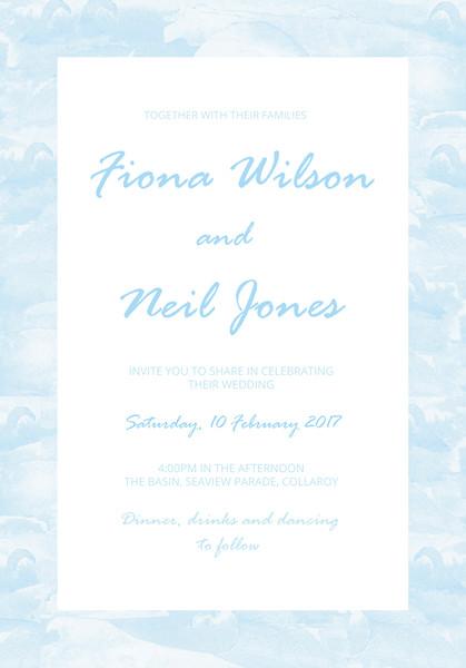 Beach Wedding Invitation Sample