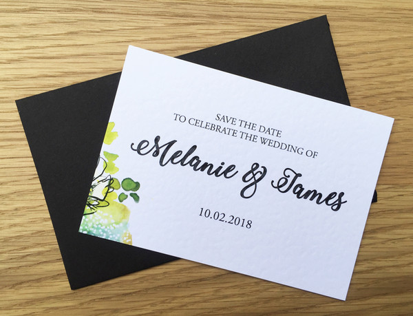 Save the Date - to match Bouquet wedding invitation