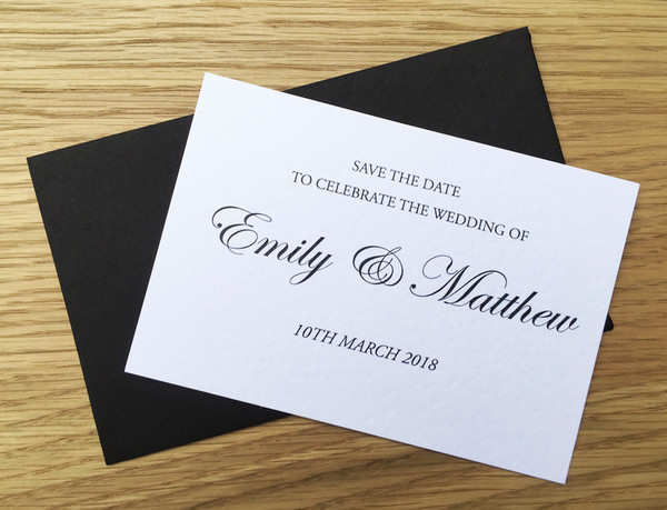 Save the Date - to match Classic wedding invitation
