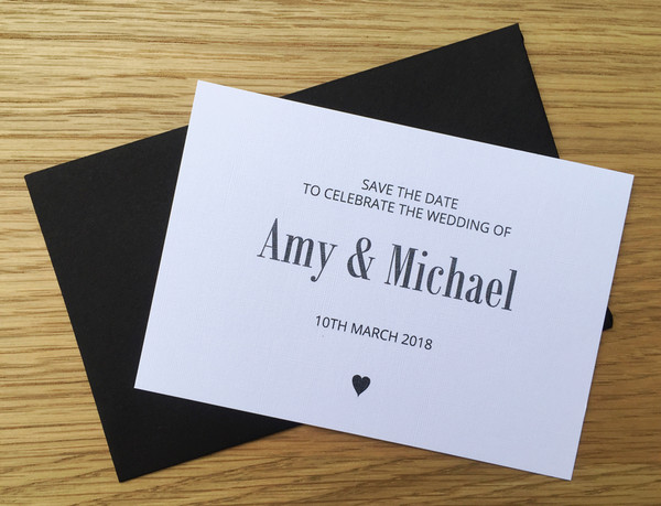 Save the Date - to match Heart wedding invitation