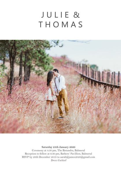Your Photo Wedding Invitation #3