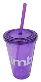 Double-walled Acrylic Tumbler with straw 16 oz.