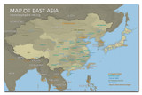 East Asia Downloadable Map