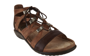 Naot Leather Ghillie Sandals - Selo Gladiator