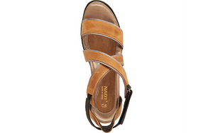 Naot Leather Wedge Sandals - Gesture