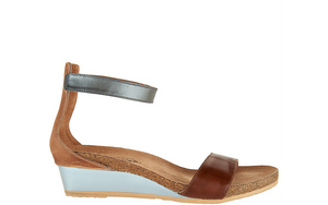 Naot Leather Ankle Strap Wedge Sandals - Pixie