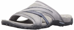 Merrell Leather Slip-On Sandals Sleet - Terran Slide II - Size 10