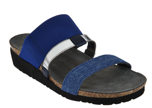 Women's NAOT Leather Triple Strap Slide Sandals Brenda