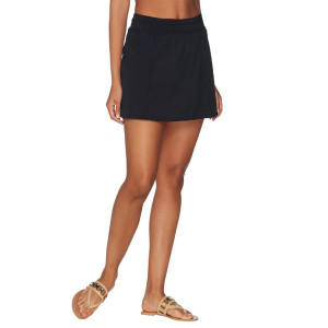 Denim & Co. Beach Swim Skirt with Back Zip - Size 16